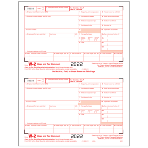 W-2 Preprinted Forms
